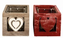 heart planting pot/ candle holder from