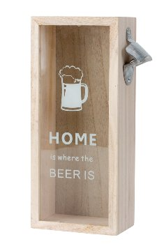 Bier-Deckel-Kasten mit Öffner h=30cm
