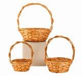 round willow basket h=23+37cm w=17+46cm