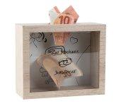 Wooden box as wedding money box 18x15cm