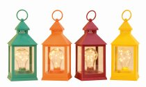 lantern with LED bulb h=24cm sort.