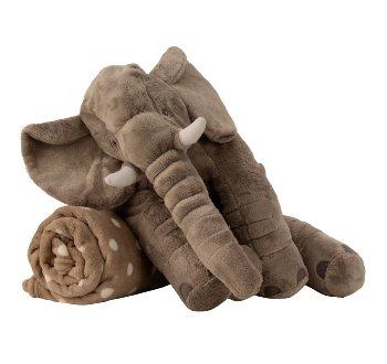 Elefant grau b=45cm h=40cm mit Decke