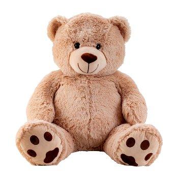 Bear light brown h=100cm (sitting: 64cm)