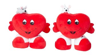 Heart standing 'I love you' with mouse