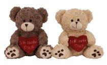 Plushbear with heart 'Ich liebe Dich'