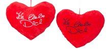 """Plush heart 'Ich liebe Dich"""" w=43cm"""
