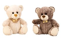 plushbear with embroidered scarf h=25cm