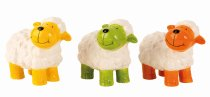 sheep standing w. colourful face h=13cm