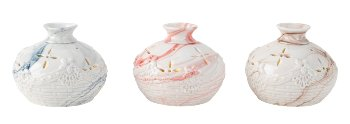 Porzellan Vase mit LED h=9cm d=10cm