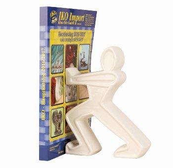 Buchstütze stehende Figur weiß h=22cm
