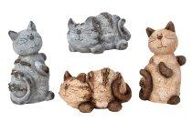 Katzen stehend und liegend in braun &