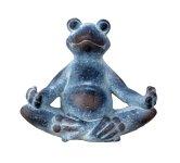 Yoga frog grey h=18,5cm w=21,5cm