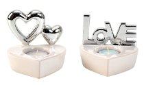 """Teelichthalter """"Love"""" & mit Herzen"""