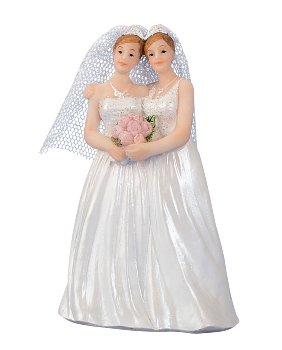 Hochzeitspaar 2 Frauen h=10,5cm