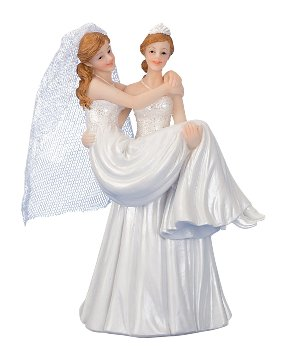 Wedding couple 2 women h=15 cm