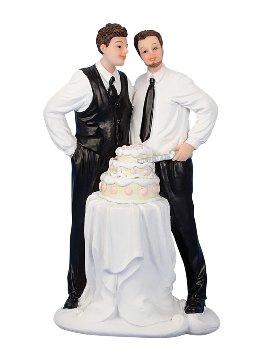 Hochzeitspaar 2 Männer h=16,5cm