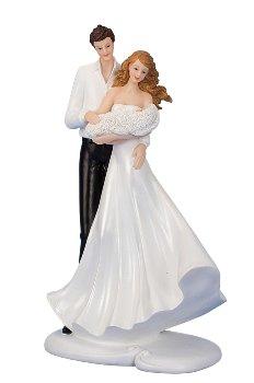 Hochzeitspaar mit Baby auf Arm h=26cm