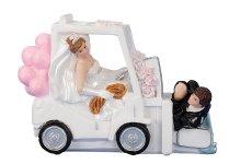 Wedding couple on fork-lift truck h=11