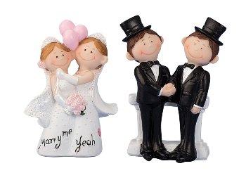 Wedding couple 2 men & 2 women h=8,5 + 9