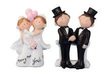 Hochzeitspaar 2 Männer & 2 Frauen
