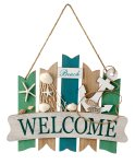 """Maritim plate """"Welcome"""" for hanging"""