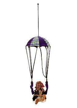 Hexe an Fallschirm mit Überschlag, Licht