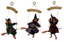 """Witch for hanging with board """"Welcome"""""""