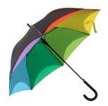 Regenschirm d=100cm schwarz-Regenbogen