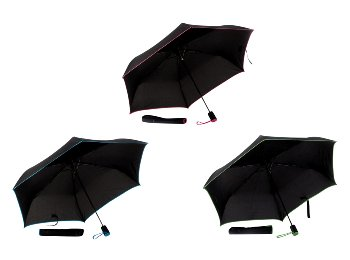 Taschenschirm d=100cm schwarz m.
