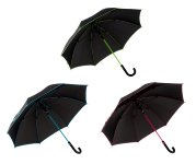 Regenschirm d=100cm schwarz m. Farblinie