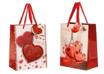 """present bag """"hearts glitter+3D"""""""