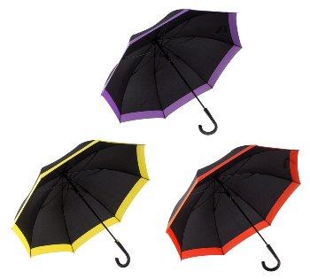 Regenschirm d=100cm schwarz m. breiter
