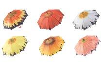 Regenschirm d=100cm Blumen-Motive sort.