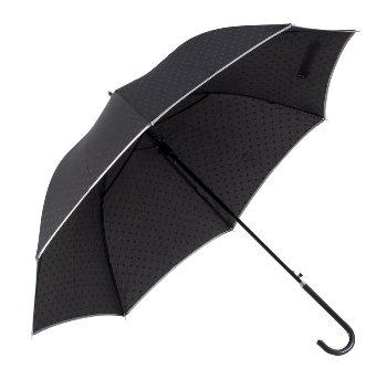 Regenschirm d=100cm schwarz mit Punkten
