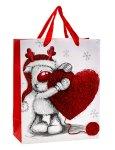"Present bag ""Cute elk with heart"" w."
