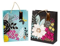 """Present bag """"Exclusive Flowers"""" w. shine"""