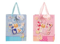 "present bag ""baby glitter+3D"" 18x23x10cm"