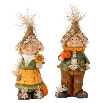 Herbstfiguren Junge/Mädchen stehend