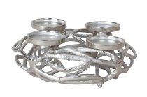 Metall-Adventskranz silber d=30cm