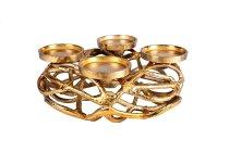 Metal advent wreath gold d=30cm