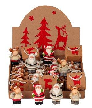 Weihnachtsfiguren in Tüte und Display