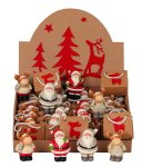 Christmas figures in bag and display