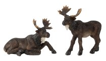 Elk lying + standing h=10-13cm w=13-14cm