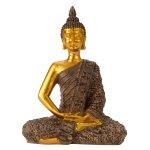 Buddha schwarz/gold h=23cm b=17cm
