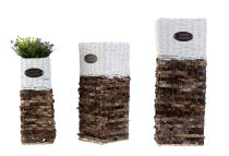Planting pot tower set of 3 pcs