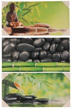 Bilddrucke 'Bambus-Design'