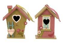 Vogelhaus aus Holz h=23,5cm