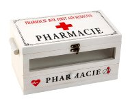 Medizin-Box aus Holz 14,5x25cm h=13,5cm