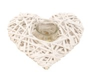 willow heart with glass as T-light