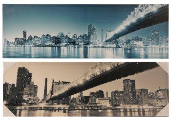 Bilddrucke 'Städte-Design' 90cmx30cmx3cm